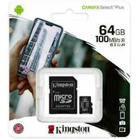 64GB micSDHC Canvas Select Plus 100R A1 C10
