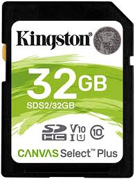 SD 32GB Kingston Canvas - 100MB/s